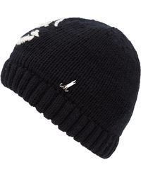 Muhlbauer - Black Baby Merino Wool Knit Hat - Lyst