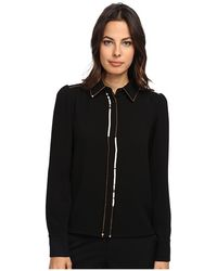See By Chloé Black Ls Shirt - Lyst