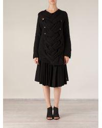 Comme Des Garçons Plaited Front Knit Sweater - Lyst