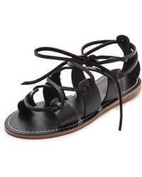 Madewell Kahlahari Laced Gladiator Sandals True Black - Lyst