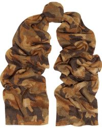 MICHAEL Michael Kors - Camouflage-print Knitted Scarf - Lyst