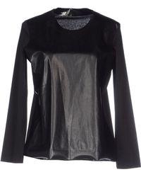Celine Black T-Shirt - Lyst