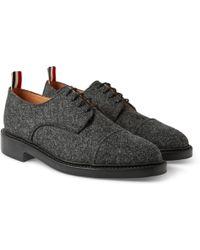 Thom Browne Gibson Wool-tweed Derby Shoes - Lyst