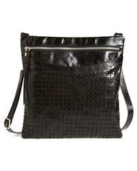 Hobo 'Flannery' Perforated Leather Crossbody Bag black - Lyst