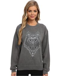 Obey Thunder Wolf Pigment Throwback Fleece - Lyst