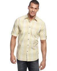 Sean John Short Sleeve Checked Shirt - Lyst