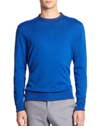 MELINDAGLOSS Contrast Crewneck Sweater - Lyst