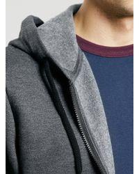 LAC - Charcoal Kangaroo Pocket Bk Zip Hoody - Lyst