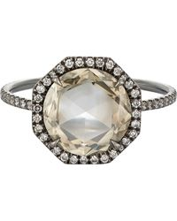 Mp Mineraux - Double-sided Diamond Ring-colorless - Lyst