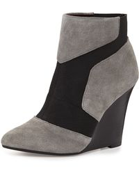 Report Signature Iliana Suede Wedge Bootie - Lyst