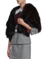 Fendi 3-way Fur Shawlbolero Jacket - Lyst