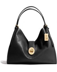 Coach Madison Carlyle Shoulder Bag in Leather - Lyst