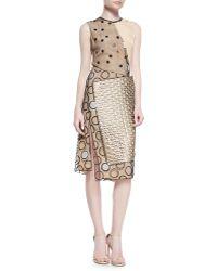 Reed Krakoff Leather-trim Multi-dot Dress - Lyst