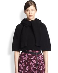 Band of Outsiders Hooded Wool Capelet - Lyst
