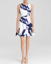Karen Millen Painterly Brushstroke Stripe Print Signature Stretch Dress - Bloomingdale'S Exclusive - Lyst