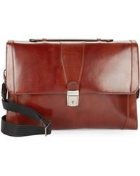 Bosca - Leather Flap-top Brief Case - Lyst
