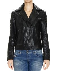 Diesel Jacket Biker Leather - Lyst