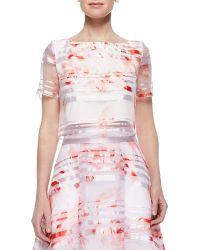Noir Sachin & Babi Rose-Print Short-Sleeve Shirt - Lyst
