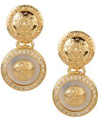 Versace Earrings gold - Lyst