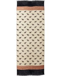 Tory Burch Horse Print Scarf Ivory - Lyst