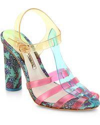 Sophia Webster Rosa Pinapple-Print Jelly Sandals - Lyst