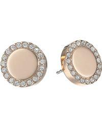 Fossil Glitz Metal Stud Earrings - Lyst