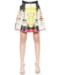 Piccione.piccione Bee Print Pleated A-Line Skirt - Lyst