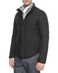 Ermenegildo Zegna Microfiber Quilted Jacket - Lyst