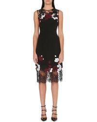 Erdem Kent Florallace Sleeveless Dress Black - Lyst