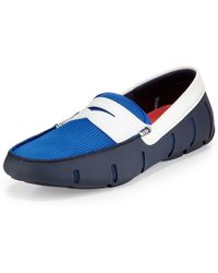 Swims Tricolor Meshrubber Penny Loafer Navy - Lyst