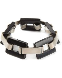 Yves Saint Laurent Vintage Black Square Bracelet - Lyst