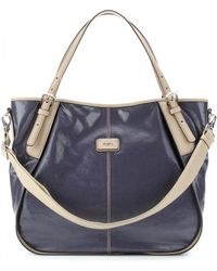 Tod's New G-Line Medium Coated Tote With Leather Handles - Lyst