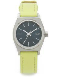 Nixon Small Time Teller Watch - Navy/Neon Yellow gray - Lyst