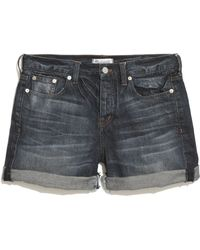 Madewell Denim Boyshorts in Inlet - Lyst