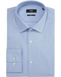 Hugo Boss Jenno Slim Fit Tonal Geometric Print Shirt - Lyst