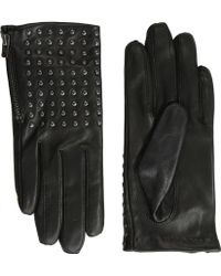 The Kooples - Leather Gloves With Studs - Lyst