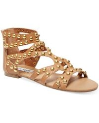 Steve Madden Women'S Culver-S Embellished Gladiator Flat Sandals - Only At Macy'S - Lyst