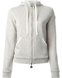 Moncler Gray Hooded Sweatshirt - Lyst