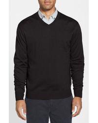 Cutter & Buck 'Douglas' Merino Wool Blend V-Neck Sweater - Lyst