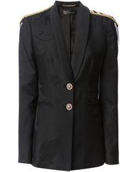 Versace Military Galon Jacquard Blazer - Lyst