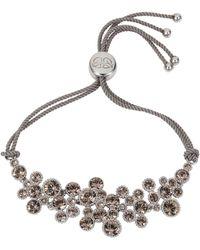 Caroline Creba - Rhodium Plated Titania Friendship Bracelet - Lyst