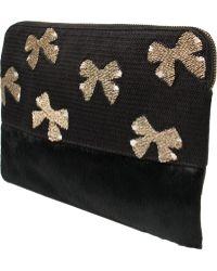 Lizzie Fortunato Jewels Evron Bow Safari Clutch - Lyst