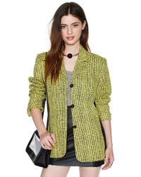 Nasty Gal Versace Daniella Blazer green - Lyst