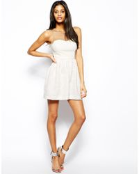 Tfnc Prom Dress with Pattern Skirt and Mesh Bodice - Lyst