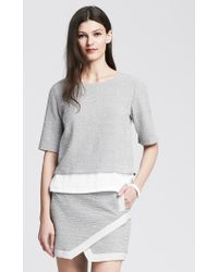 Banana Republic Textured Layered Pullover - Lyst