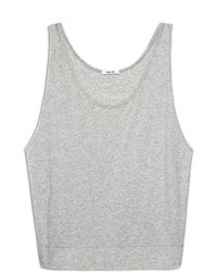 Helmut Lang Feather Jersey Tank - Lyst