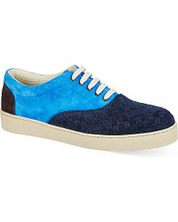 Bottega Veneta Yankee Intrecciato Suede Trainers - For Men - Lyst