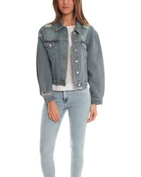 Acne Studios Tram Trashed Denim Jacket - Lyst