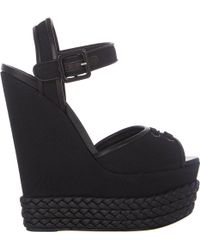 Giuseppe Zanotti Braided Platform-wedge Sandals - Lyst