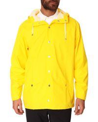 Rains Yellow Waterproof Jacket - Lyst